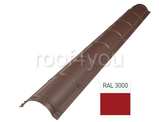 Coamă rotundă mare CRMA, Lucios WETTERBEST, grosime 0.45 mm, RAL 3000 0