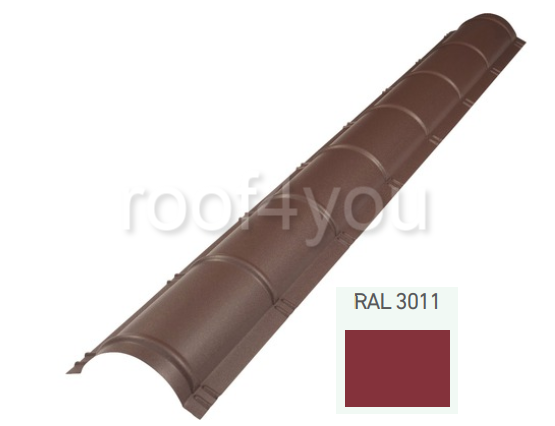 Coamă rotundă mare CRMA, Lucios WETTERBEST, grosime 0.4 mm, RAL 3011 0