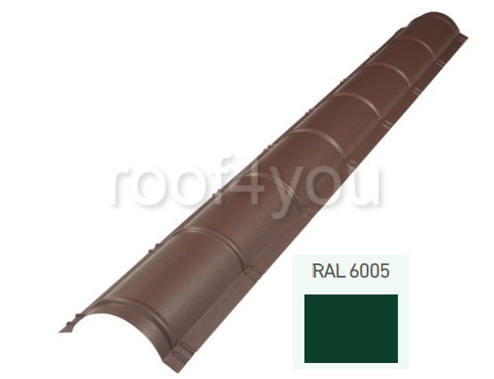 Coamă rotundă mare CRMA, Lucios WETTERBEST, grosime 0.4 mm, RAL 6005 0