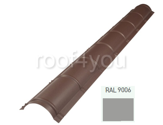 Coamă rotundă mare CRMA, Lucios WETTERBEST, grosime 0.35 mm, RAL 9006 0