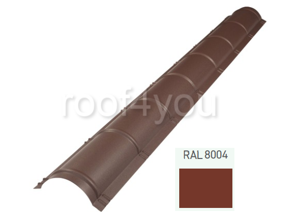 Coamă rotundă mare CRMA, Mat WETTERBEST, grosime 0.45 mm, RAL 8004 0