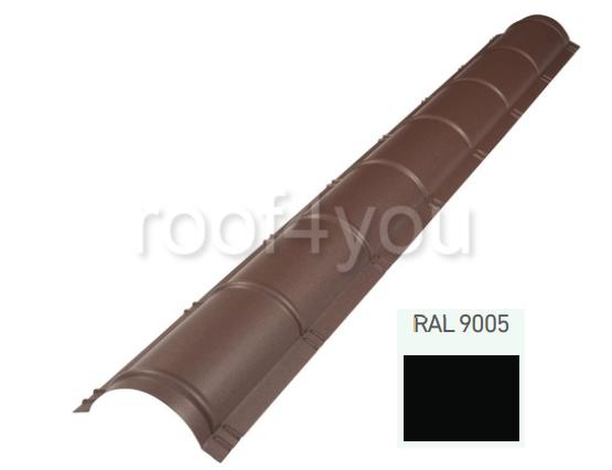 Coamă rotundă mare CRMA, Mat WETTERBEST, grosime 0.45 mm, RAL 9005 0