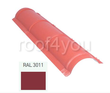 Coamă rotundă mică CR, Mat WETTERBEST, grosime 0.4 mm, RAL 3011 0