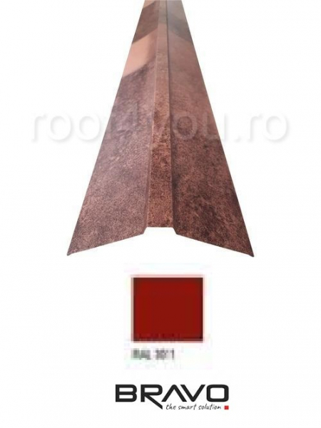 Coama dreapta 2 m Lucios BRAVO  0,45 mm / RAL 3011  latime 312 mm 0