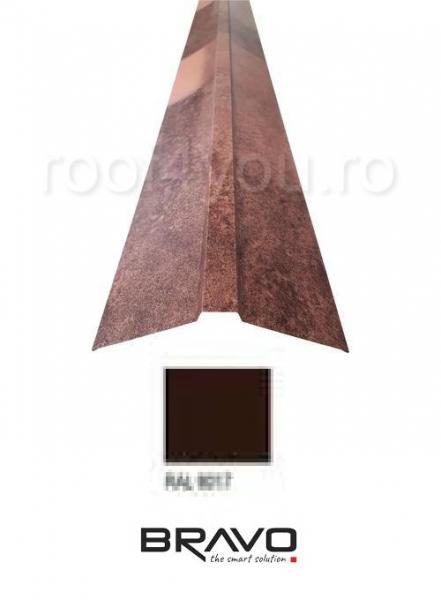 Coama dreapta 2 m Structurat BRAVO  0,50 mm / RAL 8017  latime 312 mm 0