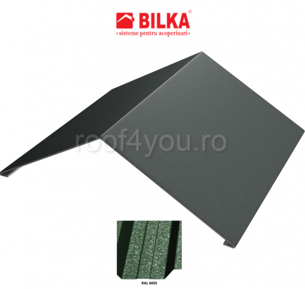 Coama unghiulara industriala BILKA Grande Mat 0,5 mm / 312 mm / RAL 6005 0