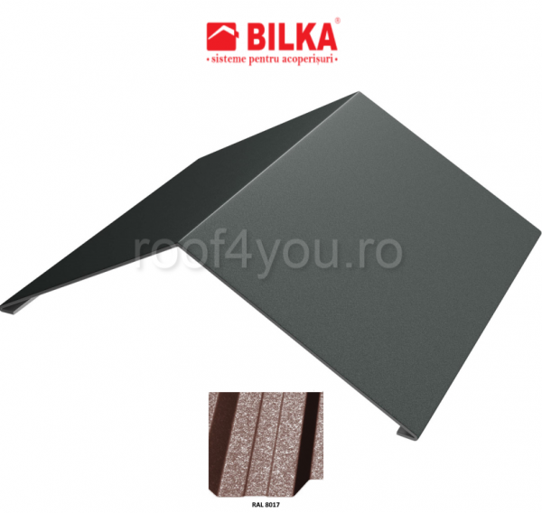 Coama unghiulara industriala BILKA Grande Mat 0,5 mm / 417 mm / RAL 8017 0