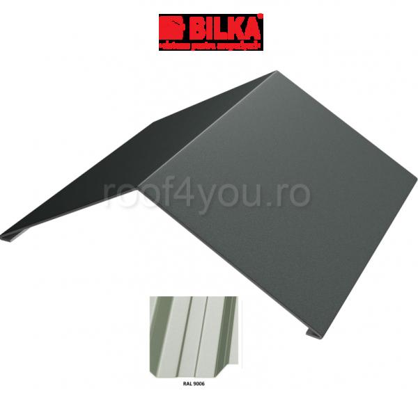 Coama unghiulara industriala BILKA Lucios 0,5 mm / 312 mm / RAL 9006 0