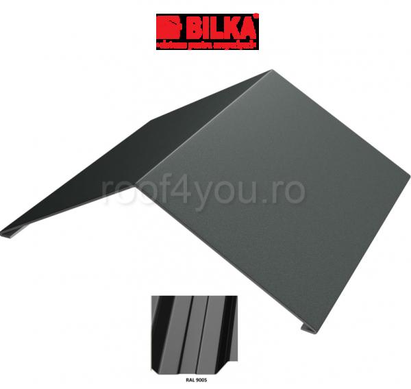 Coama unghiulara industriala BILKA Lucios 0,5 mm / 417 mm / RAL 9005 0