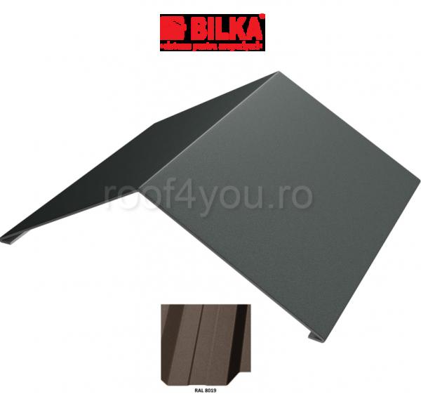 Coama unghiulara industriala BILKA Mat 0,6 mm / 417 mm / RAL 8019 0