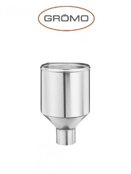 Colector cilindric pentru scurgere Ø80, Titan Zinc natural Gromo [0]