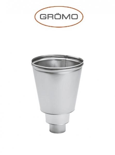 Colector palnie pentru scurgere Ø80, Titan Zinc natural Gromo 0