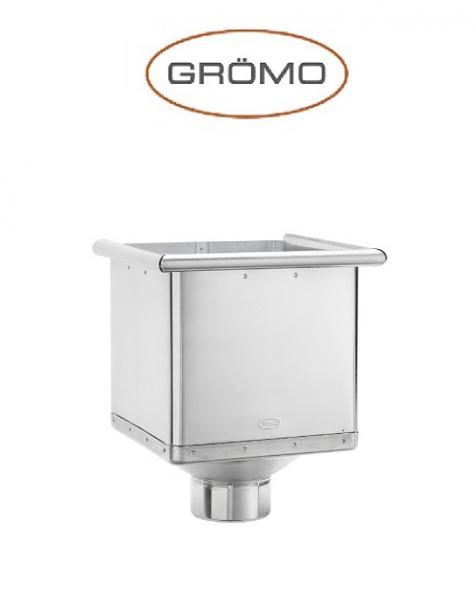 Colector rectangular pentru scurgere Ø80, Titan Zinc natural Gromo 0