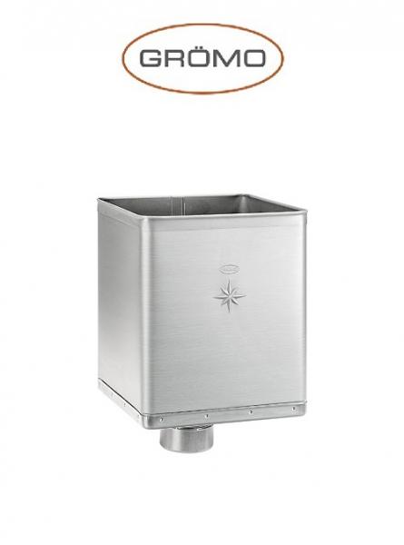 Colector terasa DESIGN Ø80, Titan Zinc natural Gromo [0]