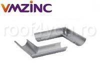Coltar exterior Ø125 titan zinc natural Vmzinc 1