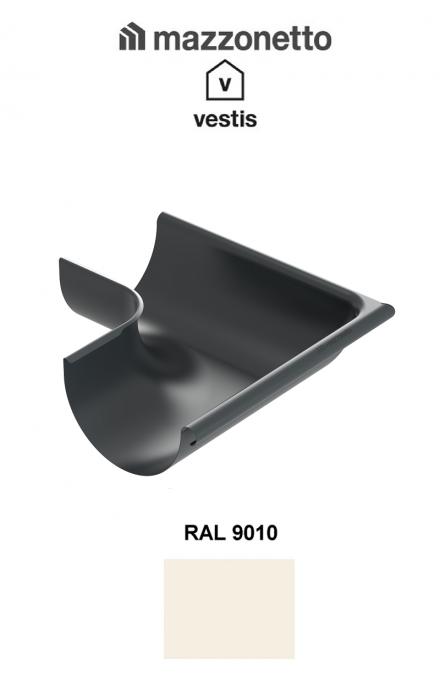 Coltar exterior semicircular jgheab Ø150, Burlan Ø100, Aluminiu Mazzonetto Vestis, RAL 9010 [0]