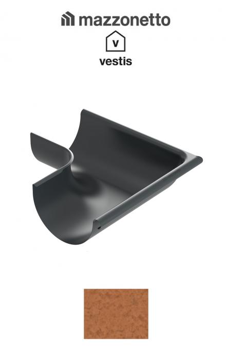 Coltar exterior semicircular jgheab Ø150, Burlan Ø100, Aluminiu Mazzonetto Vestis, RAL Copper [0]