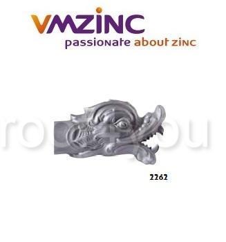 Conducte de apa de ploaie, VMZINC, inaltime/lungime 300 mm, diametru 100 mm, Model 2262 0