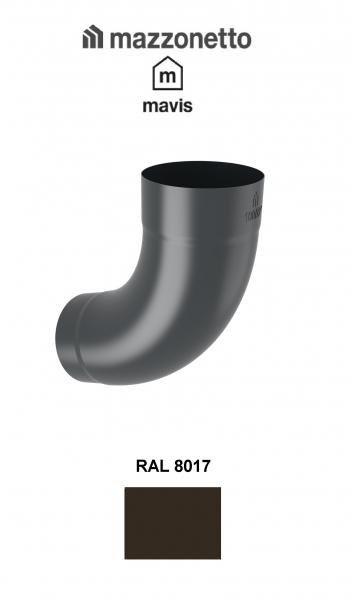 Cot semicircular 72° Ø100, Otel Mazzonetto Mavis, RAL 8017 0