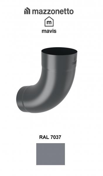 Cot semicircular 72° Ø100, Otel Mazzonetto Mavis, RAL 7037 [0]