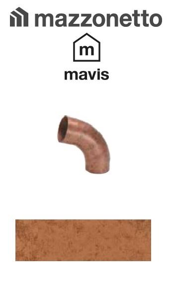 Cot semicircular 72° Ø100, Otel Mazzonetto Mavis, RAL Copper [0]