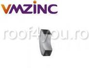 Cot burlan rectangular 100x100mm titan zinc Quartz Vmzinc 0