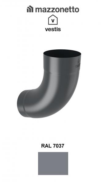 Cot semicircular 72° Ø100, Aluminiu Mazzonetto Vestis, RAL 7037 [1]