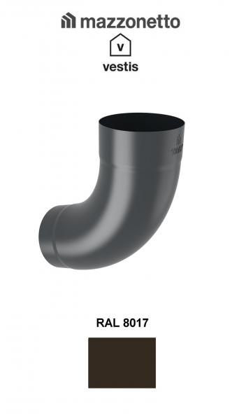 Cot semicircular 72° Ø100, Aluminiu Mazzonetto Vestis, RAL 8017 0