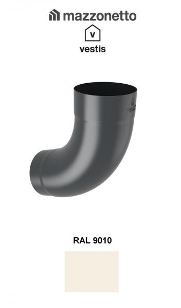 Cot semicircular 72° Ø100, Aluminiu Mazzonetto Vestis, RAL 9010 [0]