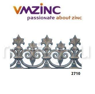 Decor standard VMZINC, inaltime 380 mm, lungime 885 mm, Model 2710 0
