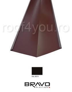 Dolie 2 m Structurat  BRAVO  0,40 mm / RAL 8019  latime 416 mm 0