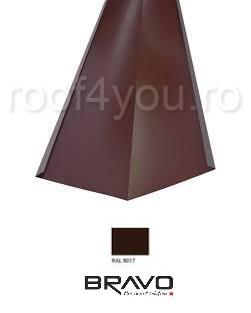 Dolie 2 m Structurat  BRAVO  0,45 mm / RAL 8017  latime 500 mm 0