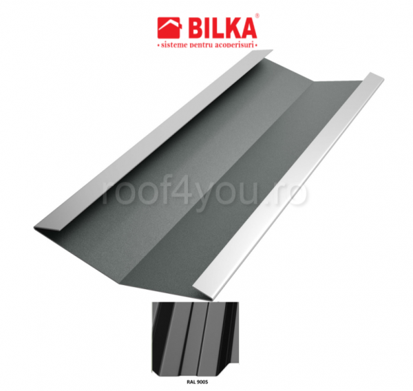Dolie industriala BILKA Lucios 0,5 mm / 417 mm / RAL 9005 0