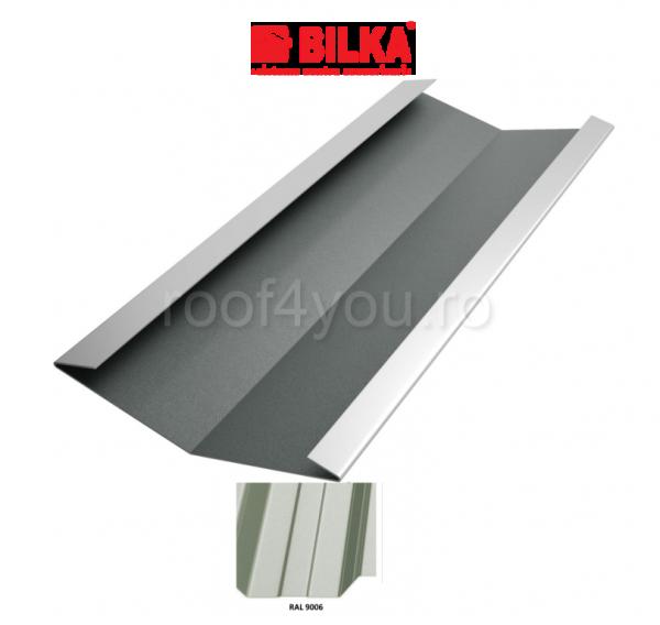 Dolie industriala BILKA Lucios 0,7 mm / 417 mm / RAL 9006 0