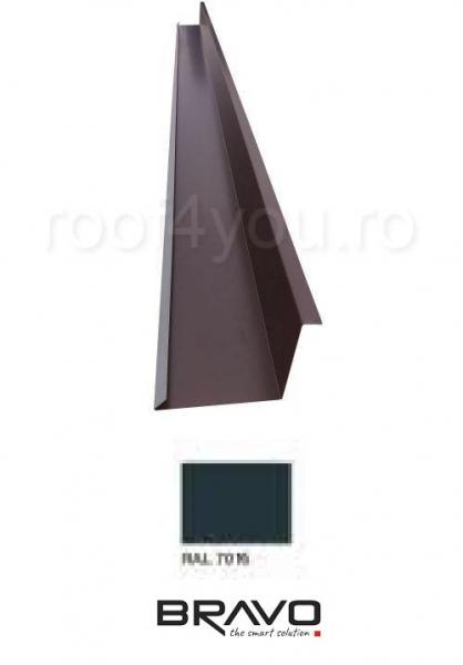 Dolie perete 2 m Lucios BRAVO  0,45 mm / RAL 7016  latime 312 mm 0
