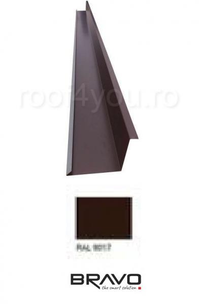 Dolie perete 2 m Lucios BRAVO  0,45 mm / RAL 8017  latime 250 mm 0