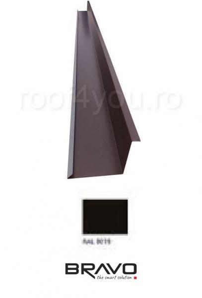 Dolie perete 2 m Structurat BRAVO  0,45 mm / RAL 8019  latime 312 mm 0