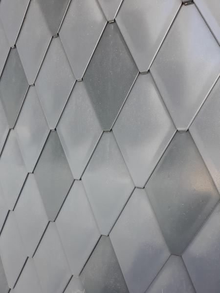 ECO-R line - solzi metalici din titan zinc Anthra model romboidali, 40buc/mp 1