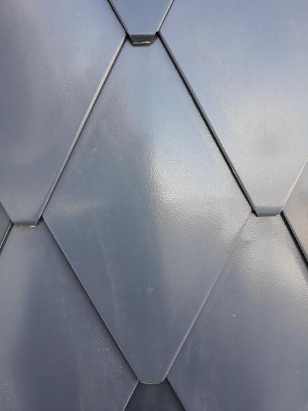 ECO-R line - solzi metalici din titan zinc Anthra model romboidali, 40buc/mp 3