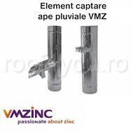 Deversor cu clapeta Ø100 titan zinc natural VMZINC 1