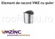 Element de racord cu guler Ø100 titan zinc natural Vmzinc 1