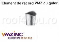 Element de racord cu guler Ø120 titan zinc natural Vmzinc 0