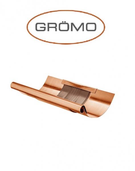 Element dilatare jgheab semicircular cu capac 333, Cupru Gromo [0]