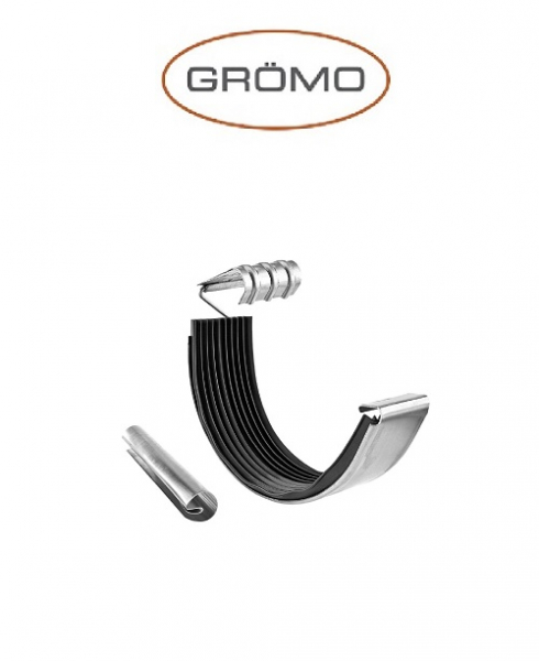 Element imbinare jgheab cu garnitura si ranforsare semicircular 333 , Titan Zinc natural Gromo [0]
