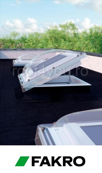 Fereastra cu cupola pentru acoperis terasa Fakro  DMC-C P2  60/60 1