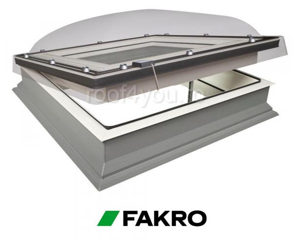 Fereastra cu cupola pentru acoperis terasa Fakro  DMC-C P2  60/60 0
