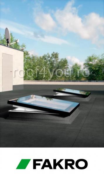Fereastra cu geam inovator pentru acoperis terasa Fakro  DEF DU6  60/60 1