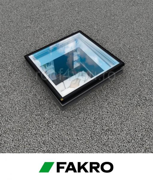 Fereastra cu modul de sticla suplimentar pentru acoperis terasa Fakro  DEG P2  60/60 deschidere electric 0