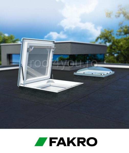 Fereastra de acces pe acoperis terasa Fakro DRC-C P2  90/90 geam cu cupola 1