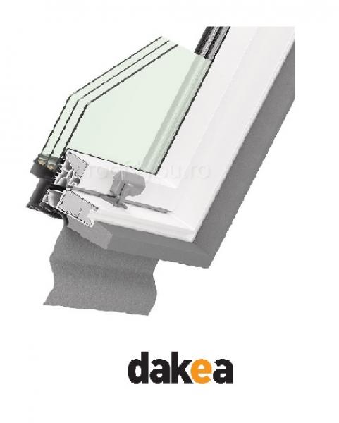 Fereastra de mansarda 55/78 DAKEA KEP1800 Ultima Energy PVC [2]